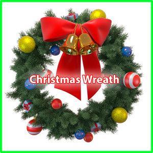christmas wreath 3d obj