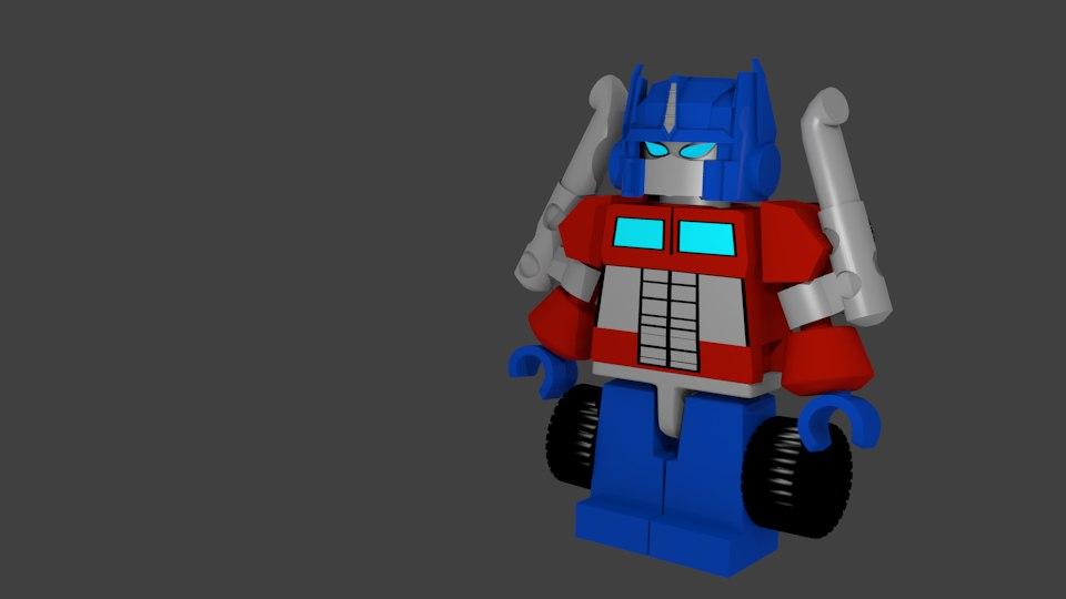 3ds max lego optimus