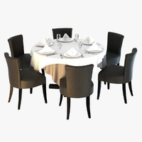 3d table chairs morgan atlantic model