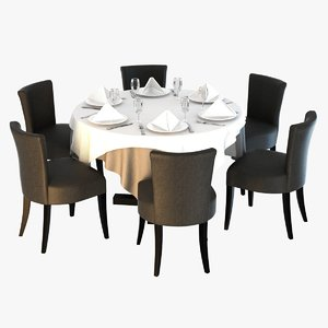 3d table chairs morgan atlantic model