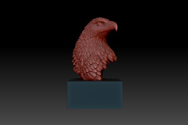 3d model eagle bust