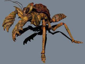 3d mole mantis model