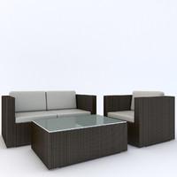 3d model beliani set