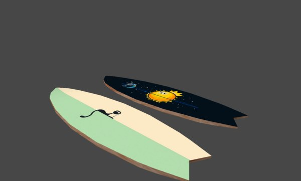 obj surfboar surf board