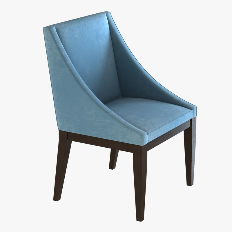 3d curving chair upholstered model