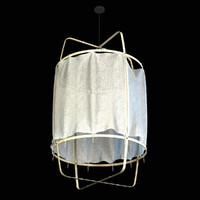 3d model lamp z1 black