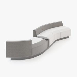 modular affair sofa 3ds