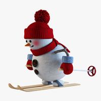 snowman skier 3d max