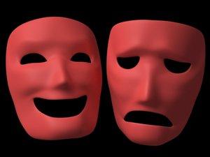 comedy masks 3d max