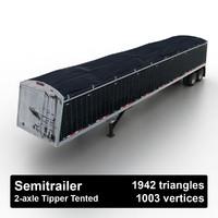 Semitrailer Tipper Tented