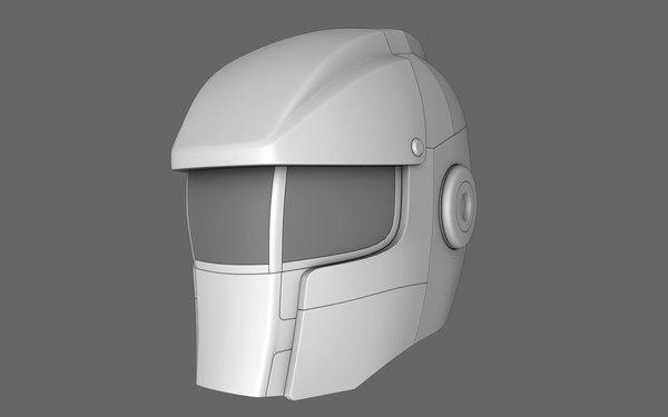 3d model sci fi helmet 05