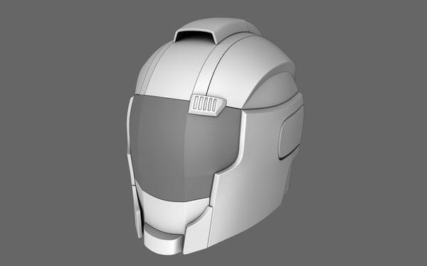 3d sci fi helmet 04 model