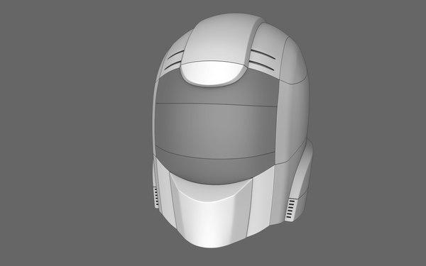 sci fi helmet 03 obj