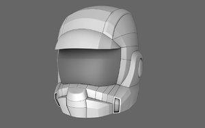 3d sci fi helmet 02