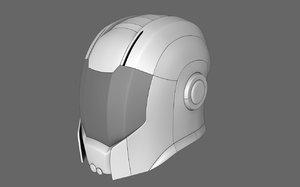 maya sci fi helmet 08