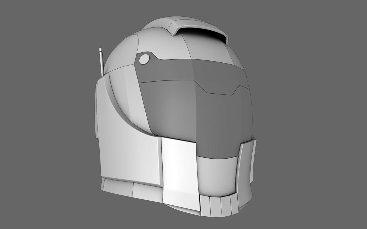 3d sci fi helmet 01