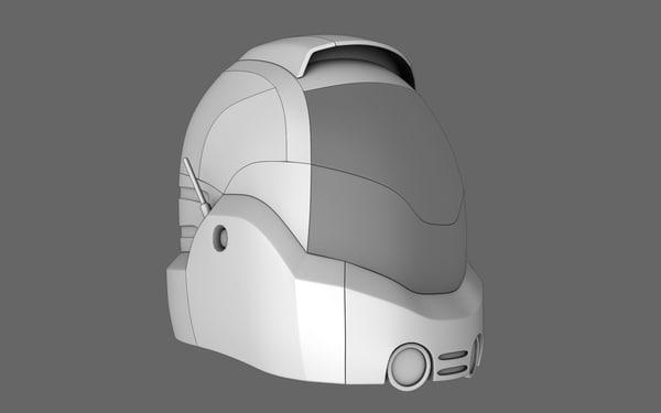 sci fi helmet 07 obj
