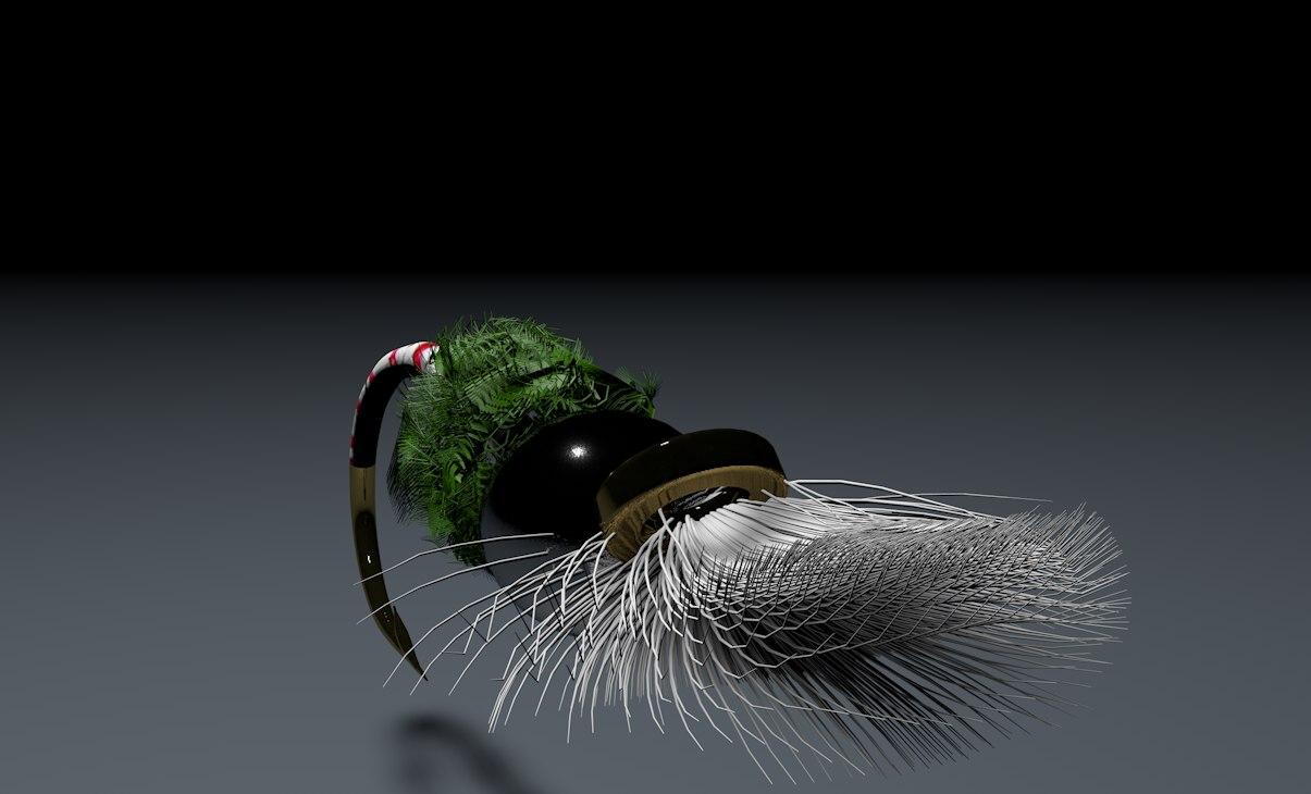 3d dry fly pupa model