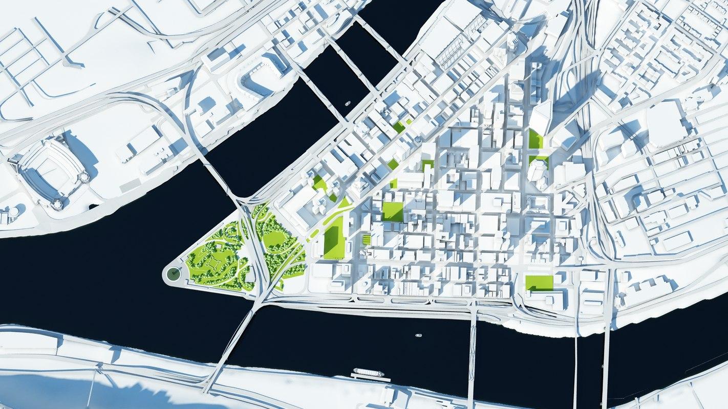 3d model pittsburgh city