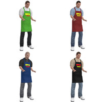 3d pack rigged supermarket worker model