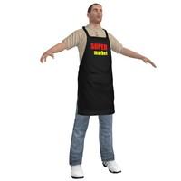 max supermarket worker man