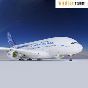 3ds max a380 air austral
