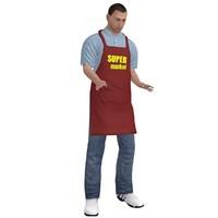 rigged supermarket worker 2 3d model