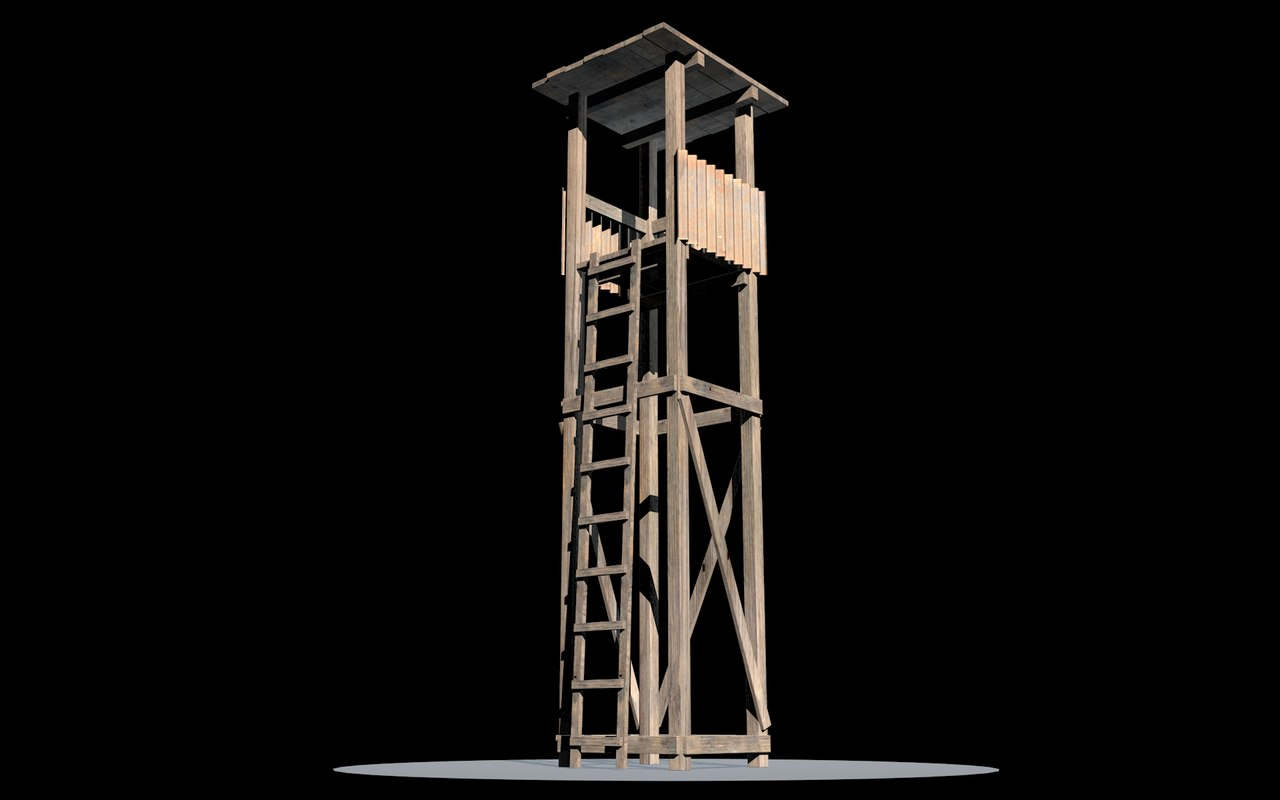 free guard tower 3d model