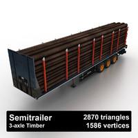 3dsmax timber semitrailer