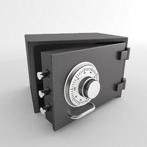 3d safe coffre fort model