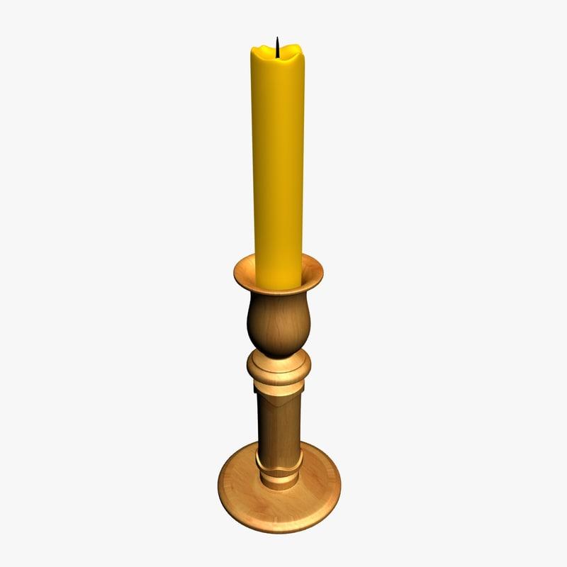 3d model candle holder