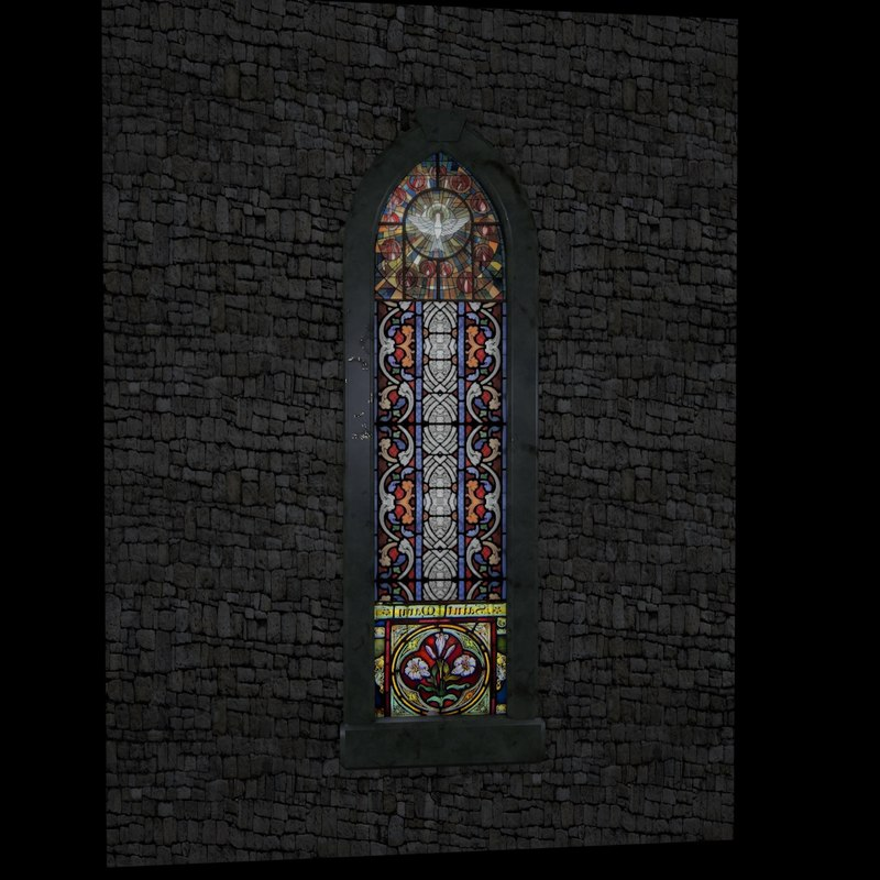 free c4d model stained glass window