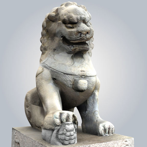 3d stone lion model