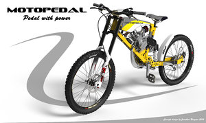 motored mountain pedaling motopedal 3d 3ds