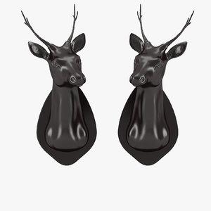3d eichholtz stag head set model