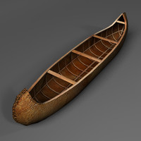 native canoe 3d obj