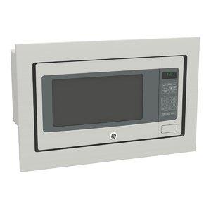 3d model of ge microwave