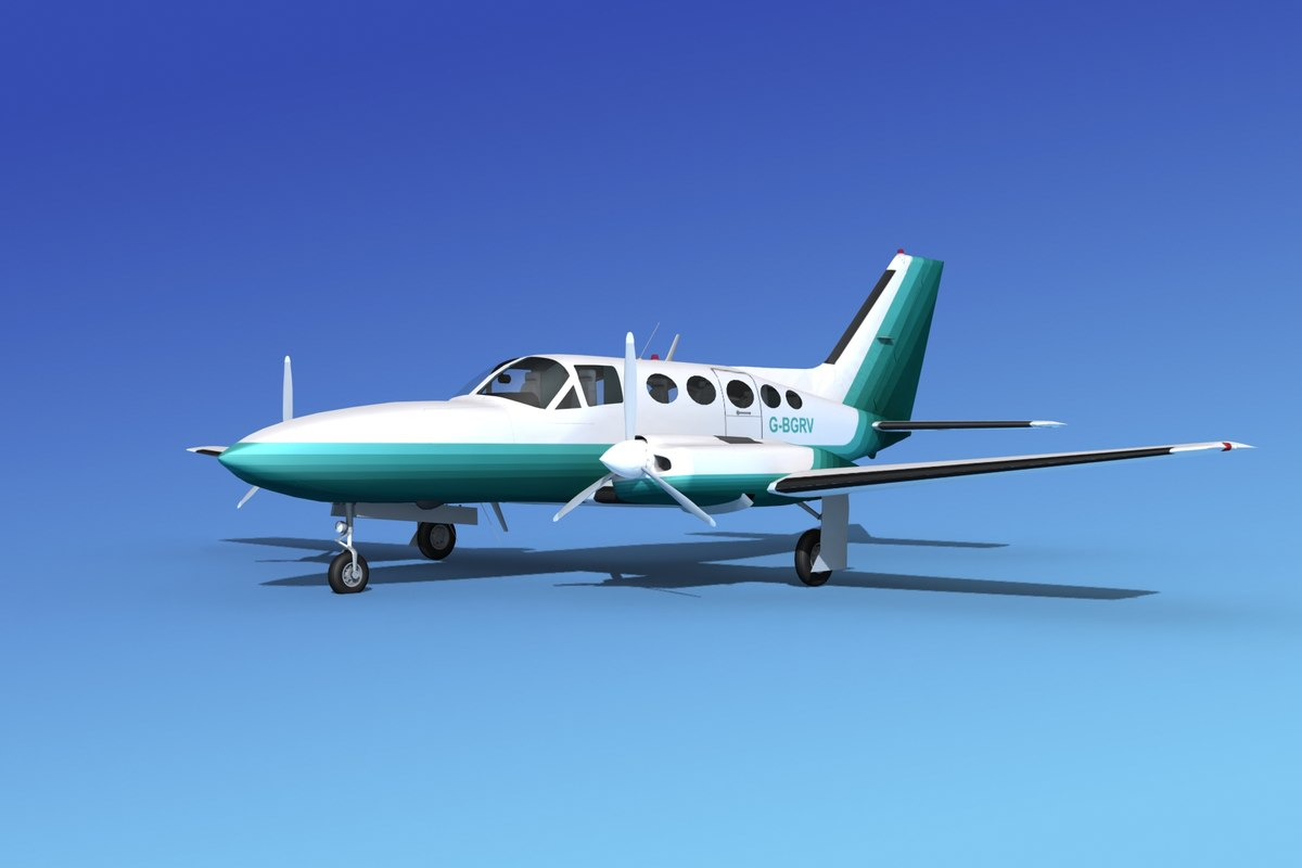 scale cessna 414 chancellor 3d model
