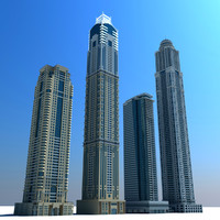 dubai marina towers 02 3d max