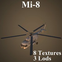 3d mil 8 helicopter model