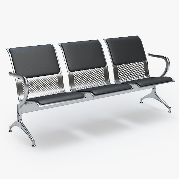 3d airport chair model
