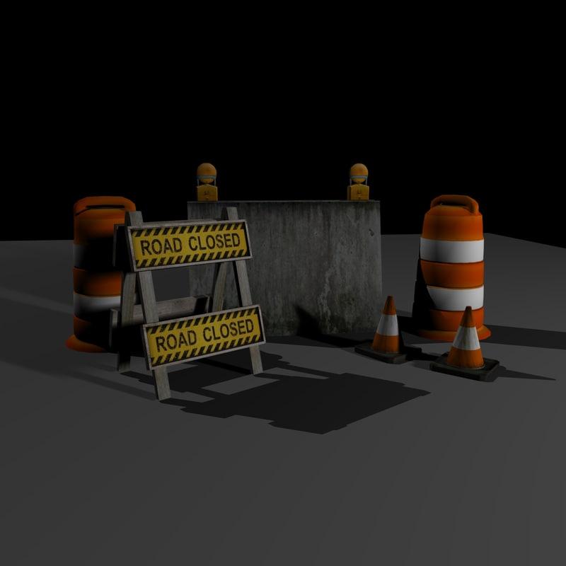 construction props 3d model