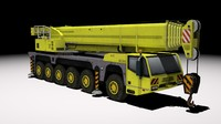 articulated demag ac200 crane 3d max