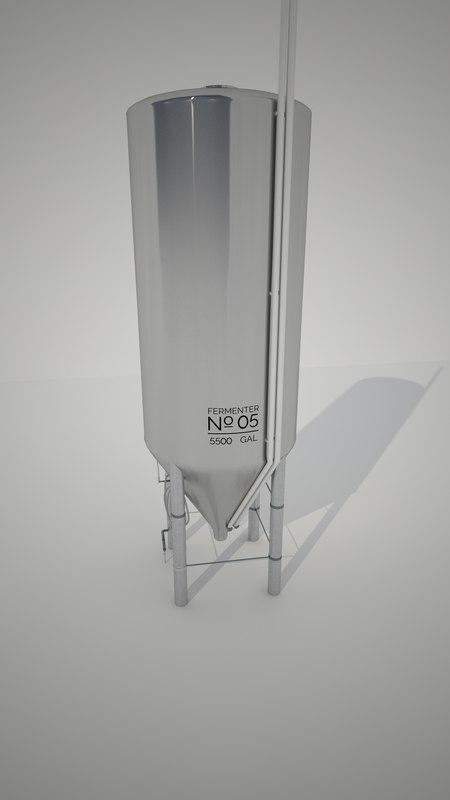 conical fermenter 3d ma