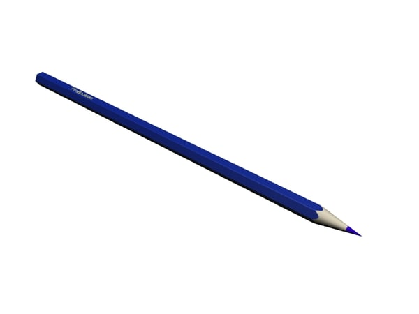 free 3ds model blue pencil