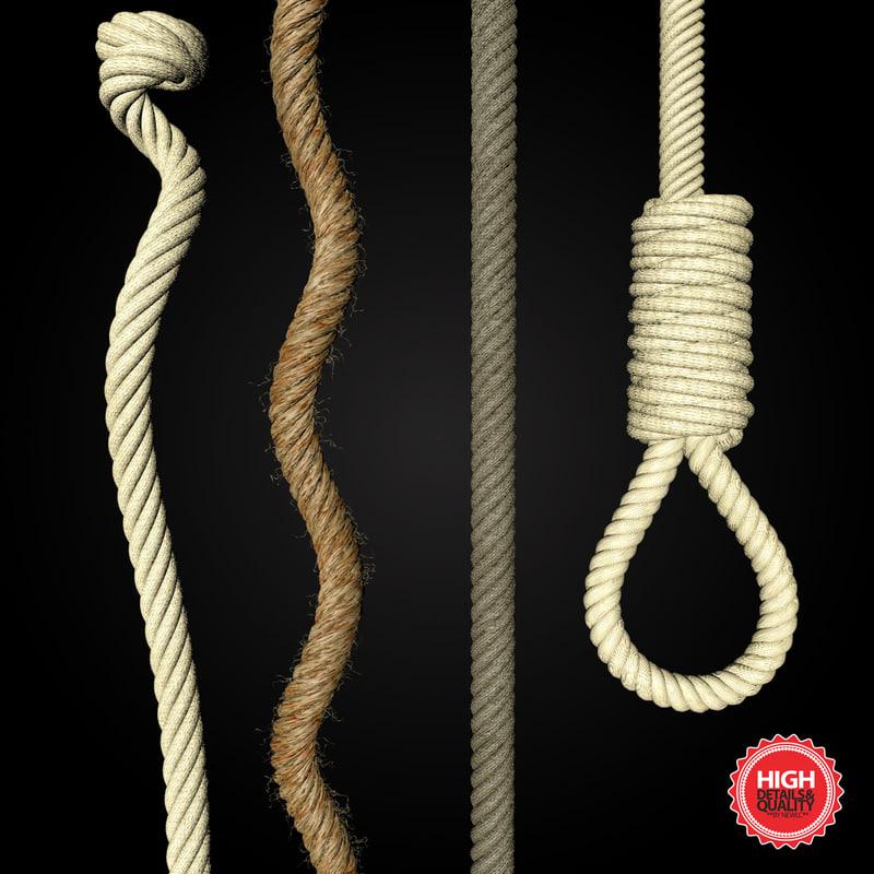 ropes cords 3d obj
