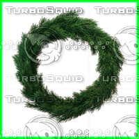 3d model wreath