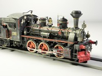 3d model of steam locomotive engine