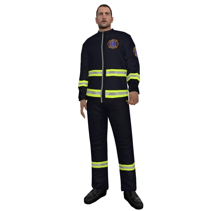 rigged paramedic 2 3d model