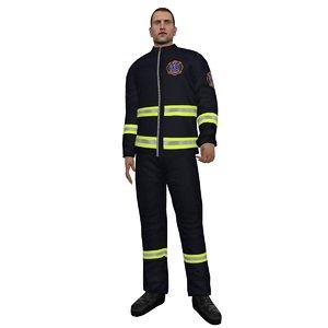 rigged paramedic 2 3d max